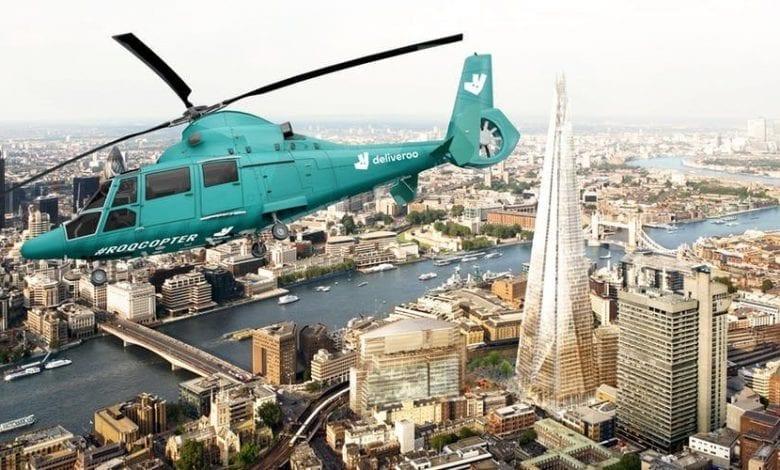 Premieră mondială la Londra: Restaurantul în elicopter, lansat de un startup