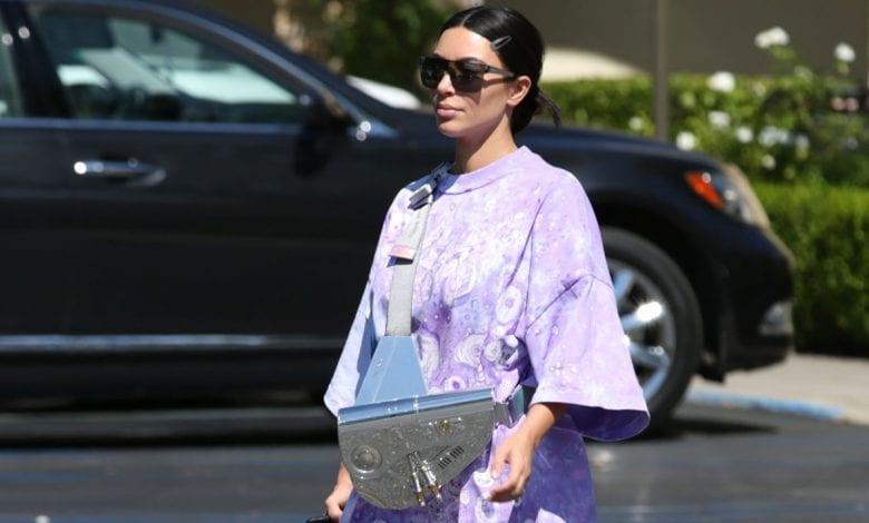 Kim Kardashian West poartă DiorxSorayama Saddle Bag