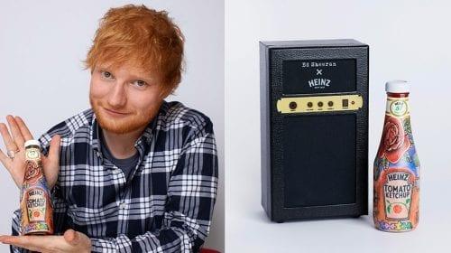 Ed Sheeran este atât de îndrăgostit de Ketchup-ul Heinz, încât și l-a tatuat!