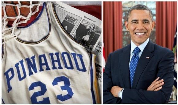 Tricoul de baschet din liceu al lui Obama, vândut pentru o sumă impresionantă