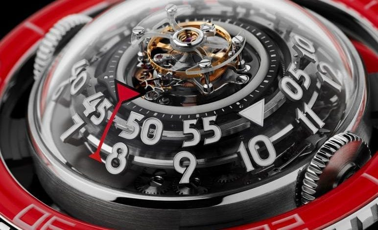 MB&F HM7 – Aquapod Platinum Red