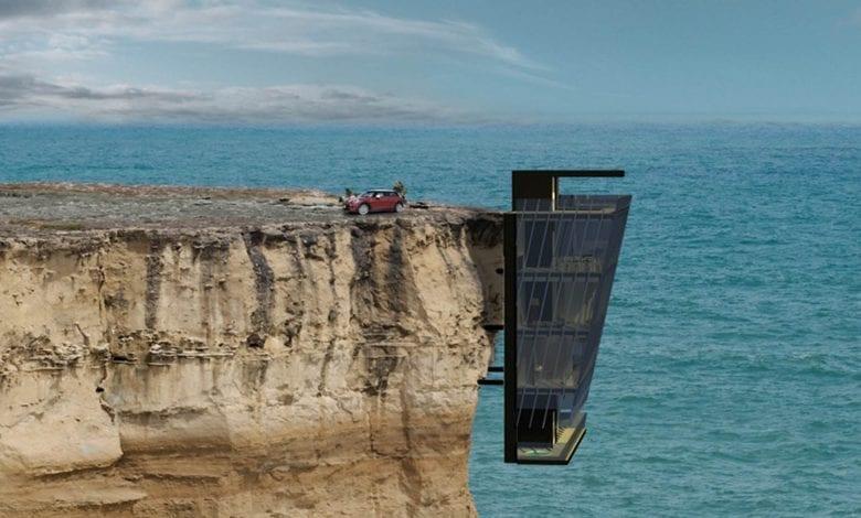 Casa suspendată pe stâncă, un proiect spectaculos al designerilor australieni