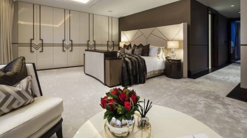 Soluția unui interior Art Deco pentru stilul contemporan de viață dintr-un penthouse