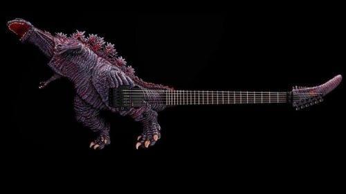 Chitară electrică de 52.000 de dolari, inspirată de Godzilla
