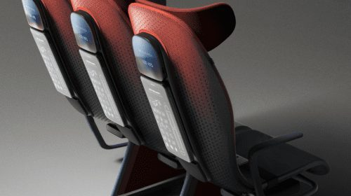 Scaunul de avion personalizat prin smartphone, creația designerilor londonezi