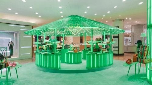 """Hyper Leaves"", pop-up-ul eclectic creat de Prada și Galeries Lafayette"