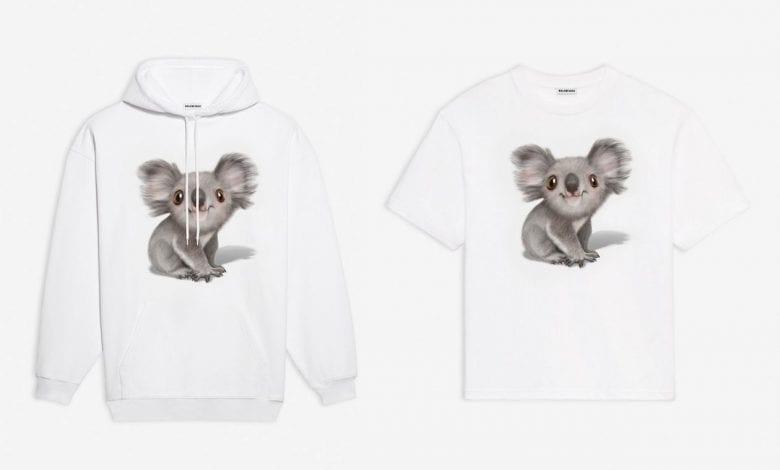 Balenciaga vinde haine imprimate cu urși koala, donând banii către combaterea incendiilor din Australia