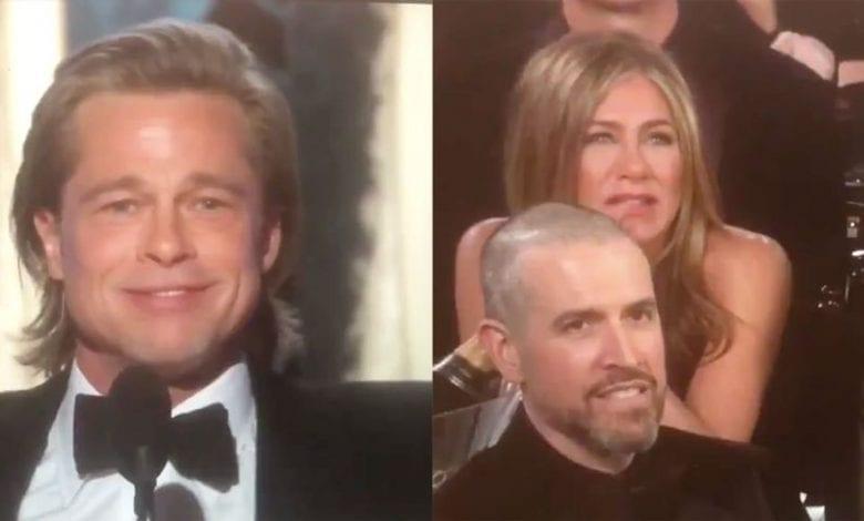 Globurile de Aur 2020 – Cum l-a privit Jennifer Aniston pe Brad Pitt în timpul discursului său