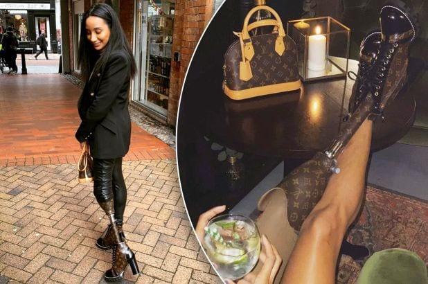 Un model care și-a pierdut piciorul și-a făcut un membru protetic dintr-o geantă Louis Vuitton