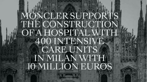 Coronavirus: Moncler donează 10 milioane de euro pentru un nou spital în Milano