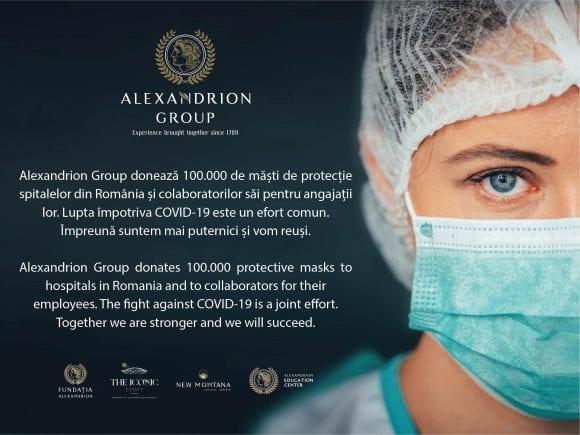 Alexandrion Group susține lupta națională împotriva COVID-19