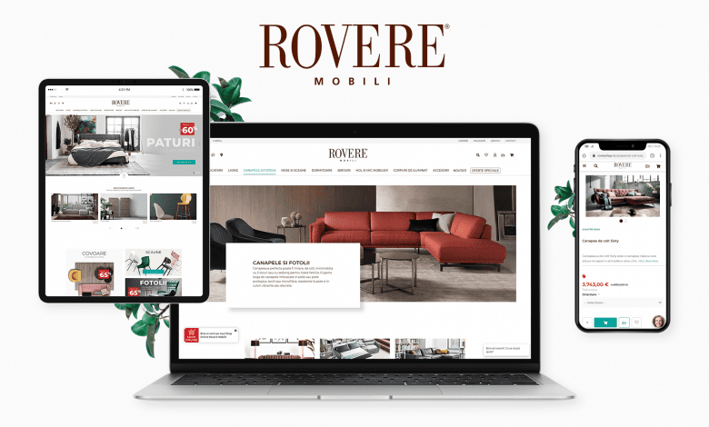 Rovere Mobili lansează un magazin online pentru mobilier de lux