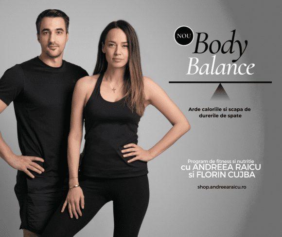 Andreea Raicu și Florin Cujbă lansează Body Balance, un program de fitness și nutriție