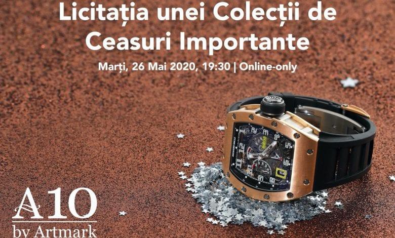 Artmark: Cea mai mare colecție de ceasuri din România, la licitație pe 26 mai