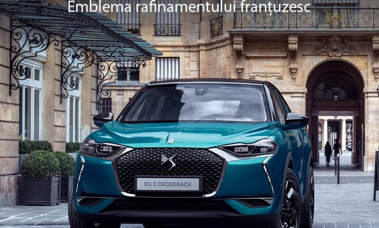 DS 3 CROSSBACK, SUV-ul dinamic și elegant creat de DS Automobiles