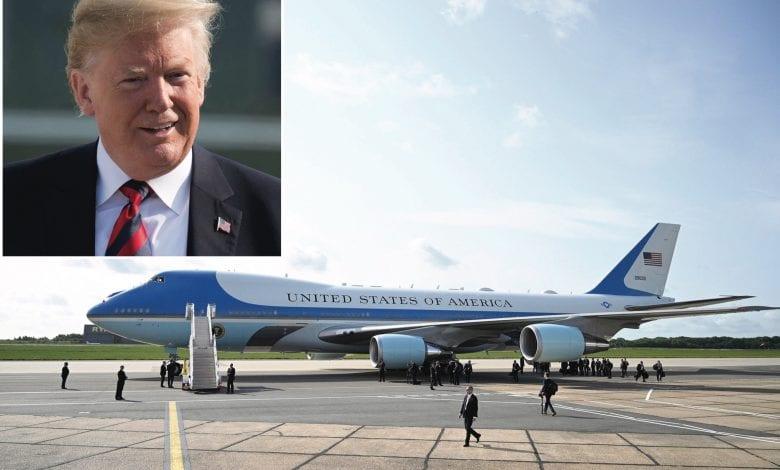 Donald Trump lasă Air Force One pentru un avion privat placat cu aur