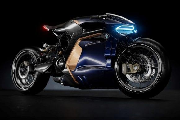 BMW Café Racer, motocicleta cu design futurist spectaculos