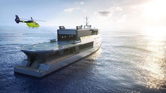 Big Shadow este un yacht exclusivist. Are inclusiv pistă de aterizare pentru elicopter