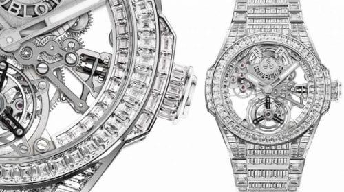 Hublot duce transparența la alt nivel cu noul ceas Big Bang Integral Tourbillon Full Sapphire