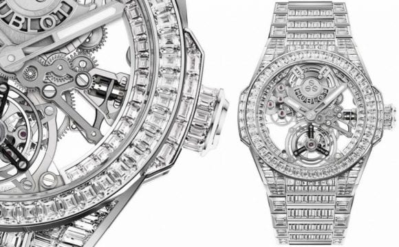 Hublot duce transparența la alt nivel cu noul ceas Big Bang Integral Tourbillon Full Sapphire