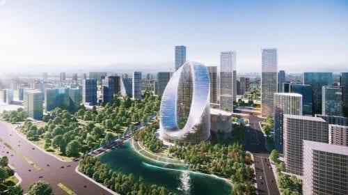 Cel mai mare producător de smartphone-uri din China construiește o clădire în formă de buclă infinită. Vezi cum va arăta superba construcție