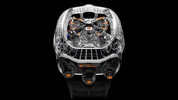 Noul ceas Bugatti Chiron de 560.000 de dolari al lui Jacob & Co. pare că are în interior un motor Supercar