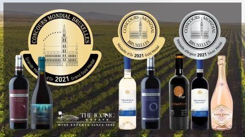 Succes românesc la Concours Mondial de Bruxelles 2021: două Mari Medalii de Aur cucerite de vinuri din portofoliul The Iconic Estate