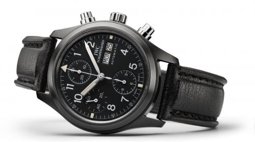 """IWC – Pilot's Watch Chronograph New Limited Edition Tribute to """"Black Flieger"""""""