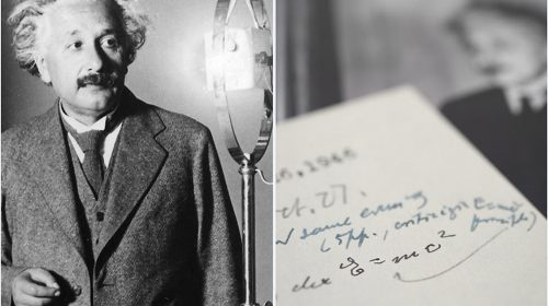 O scrisoare a lui Einstein cu teoria relativității, la vânzare pentru aproape 400.000 de dolari