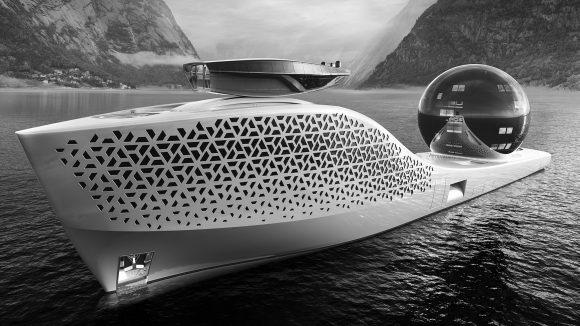 Earth 300 – Concept spectaculos de iaht de explorare cu oameni de știință la bord